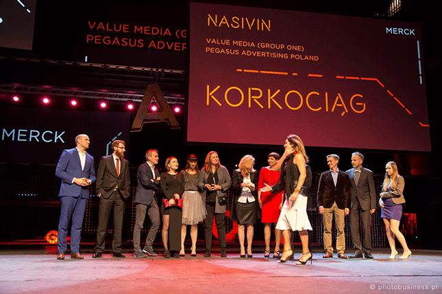The team receive an Effie award